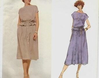 ON SALE Vogue 1897 American Designer Bill Blass Top, Skirt & Belt Pattern, Size 14, UNCUT