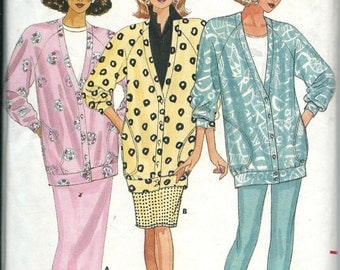 Butterick 4753 Misses Fast & Easy Jacket, Skirt and Pants Pattern, Sizes 6-8-10  UNCUT
