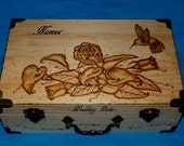 Decorative Wood Wedding Keepsake Card Box Wood Burned Wedding Love Letter Box Rustic Large Suitcase Favor Bible Scripture Verse Personalized