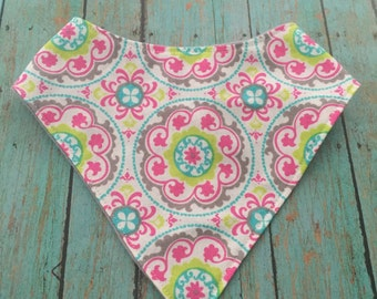 Baby Bandana Bib Bibdana Scarf in Beautiful  Cotton & Flannel with Snap Closure for Boy or Girl