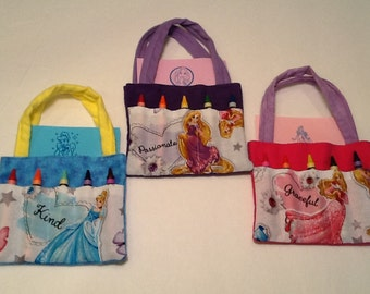 Princess Children's Crayon Bag, Birthday Party Favor
