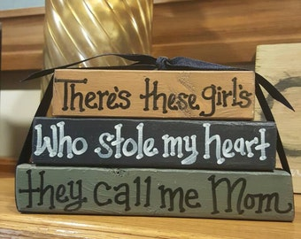 Theres these girls, who stole my heart... - Wood block set