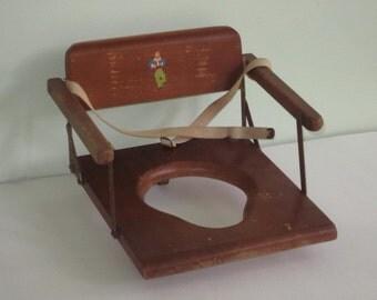 Vintage Wood Child's Potty Training Seat