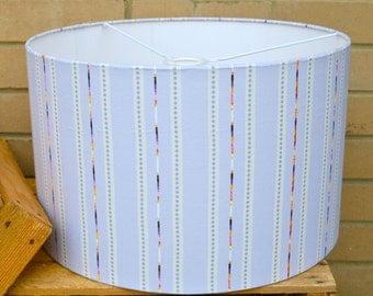 Indust Stripe fabric 20cm Lampshade