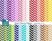 70% Sale Chevron Basics Digital Papers - Colorful Digital Scrapbooking Papers - card design, invitations, background, paper crafts - INSTANT