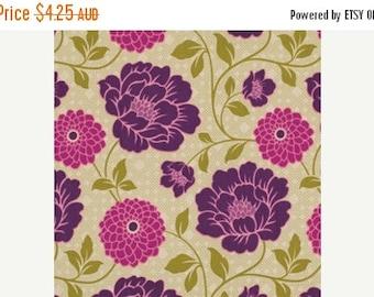ON SALE NOW Joel Dewberry Fabric - 1 Fat Quarter Bungalow -  Dahlia in Grassland / Free Spirit Fabric