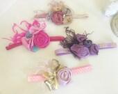 Baby Girl Headband- Baby Headbands -Pastel Easter headband- FlowerHeadband- flower-Boho Headband-Newborn Headband