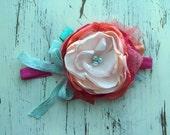 Baby Girl Headband- Matilda Jane Headband- bright Headbands- Baby Headbands-Newborn Headband- flower headband