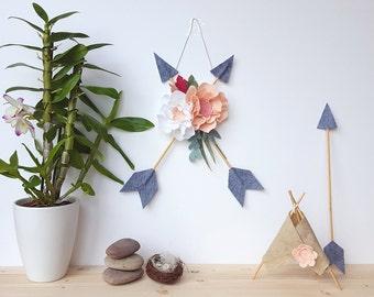 arrow mobile, arrow wall decor, be brave little one, boho baby mobile, tribal nursery, nursery decor, arrow sign, arrow art, go your own way