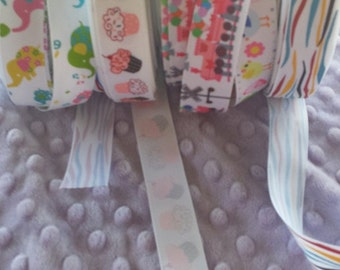 Ribbon, Cheap, inexpensive, ribbon, grab bag, 25yards, grosgrain, satin, prints and solids, various widths, just a few of my many ribbons