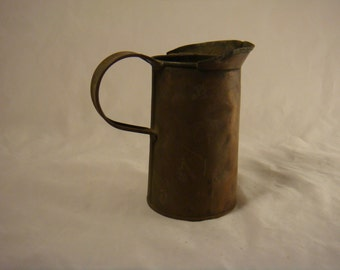 Small copper pitcher