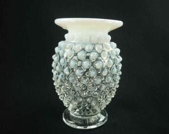 Fenton Hobnail Moonstone Opalescent Vase