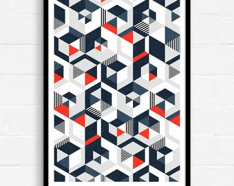 Geometric Poster, Abstract Wall Art, Geometric Wall Art, Modern Abstract Art, Graphic Design Print, Geometric Pattern, Abstract Geometric