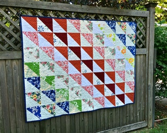 Custom Repurposed, Upcycled, Memory Quilt