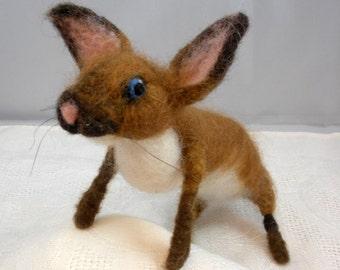 Needlefelted Bartholomew Bunny
