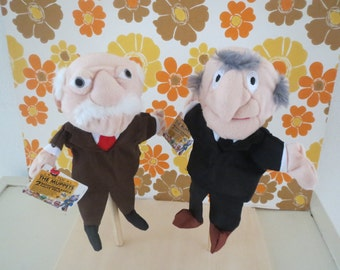 Disney Muppets  Rare Muppets show puppets 2x Statler and Waldorf With tags!!