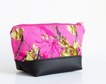 Pink Camo Makeup Bag - Camo Makeup Pouch - Cosmetics bag - Cosmetics Pouch - Toiletry Bag - Makeup Storage Bag - Camo Valentines Gift