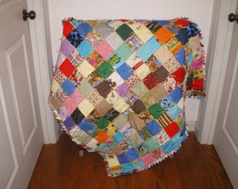 Jungle Safari boy or girl Baby Quilt #3
