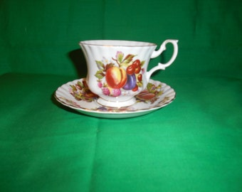 One (1), Bone China, Footed Tea Cup & Saucer, from Royal Albert, in the 4486 Pattern.