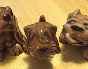 3 Dog Set - Ceramic Figures