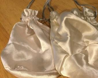 2 Satin Drawstring Bags