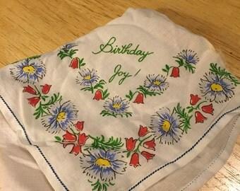 Birthday Handkerchief
