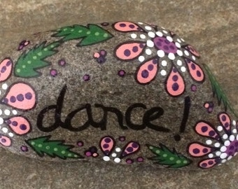Happy Rock - Allow - Hand-Painted River Rock