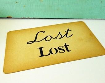 Vintage Cursive Handwriting Flashcard Uppercase Lowercase Lost