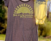 ONE LEFT! Size 4XL tunic tee. Mommy and Me Shirt Set: You Are My Sunshine