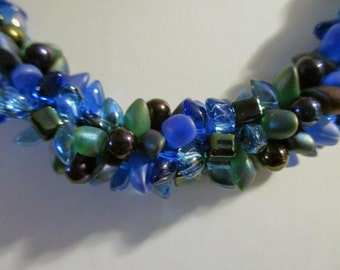 Shades of Blue Kumihimo Necklace