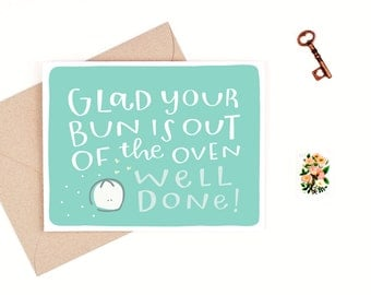 baby congratulations card  -  well done  -  recycled paper