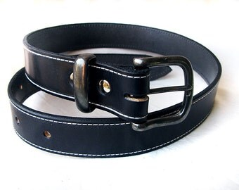 Handmade Black Bridle Leather belt