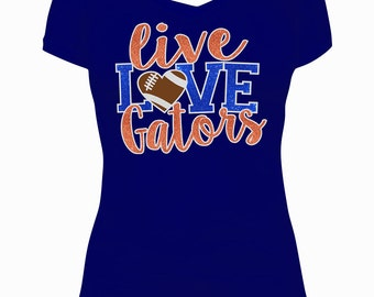 Live Love Gators Football SVG Cut Files - Instant Download