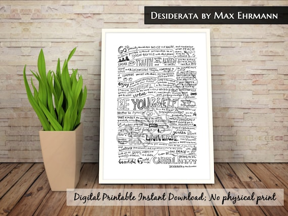 Current image within printable desiderata