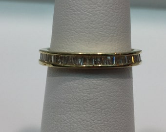 Baguette Diamond Eternity Band in 14K Yellow Gold