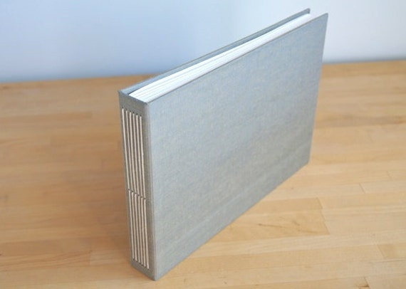 7x10 Photo Album, Hand Stitched, Available Personalized, Your Choice of Colors