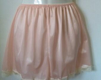 Vintage pink nylon panties sz lrg XL