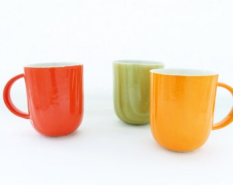 Tall Wood Grain Coffee Cup