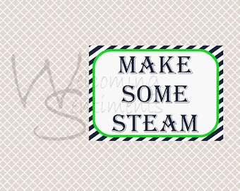 Make Some Steam Train Party Printable