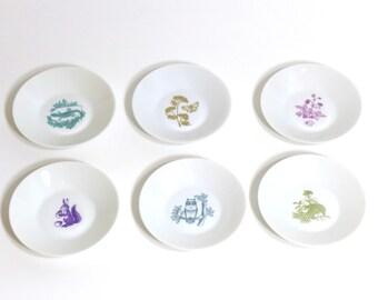 Vintage Melitta Porcelain Bowls, set of 6