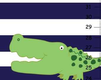Personalized Alligator Canvas Growth Chart