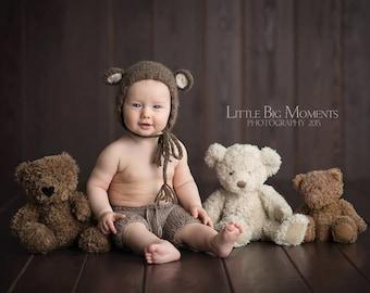 Bear hat, 12months baby bear hat