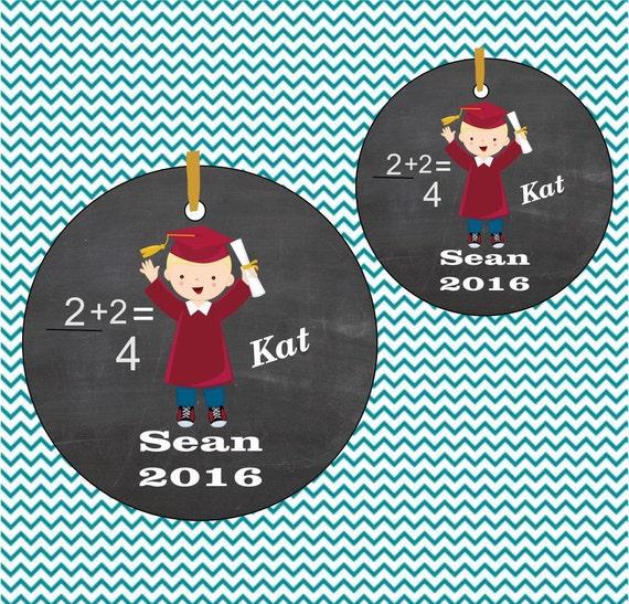 ornament# 45, suncatcher,boy graduation ornament, porcelain christmas ornment,pre-school graduation thru college, personalized ornament