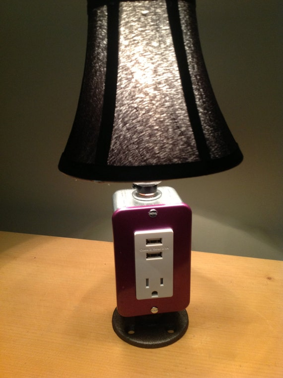 MINI Vintage Table Or Desk Lamp USB Charger Amp Lamp By