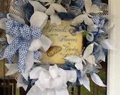 Spring Wreath, Mothers Day Wreath, deco mesh wreath,door wreath