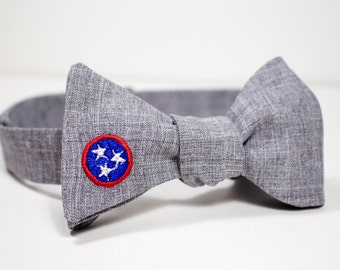 Men's Tennessee Tri-Star Bow Tie (Freestyle, Adjustable)