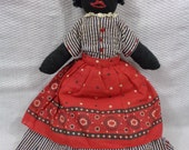Vintage Homemade Cloth Doll, Old Black Cloth Doll, Mamie Doll