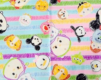 Disney Tsum Tsum Cotton Japanese Fabric / Half Yard