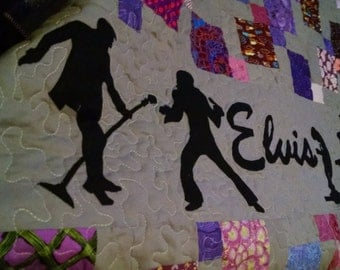 Elvis Throw Quilt - Customizable