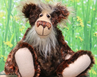 Peter Quince is just a sweet bear looking for love, a one of a kind artist teddy bear in stunning mohair and faux fur by Barbara-Ann Bears